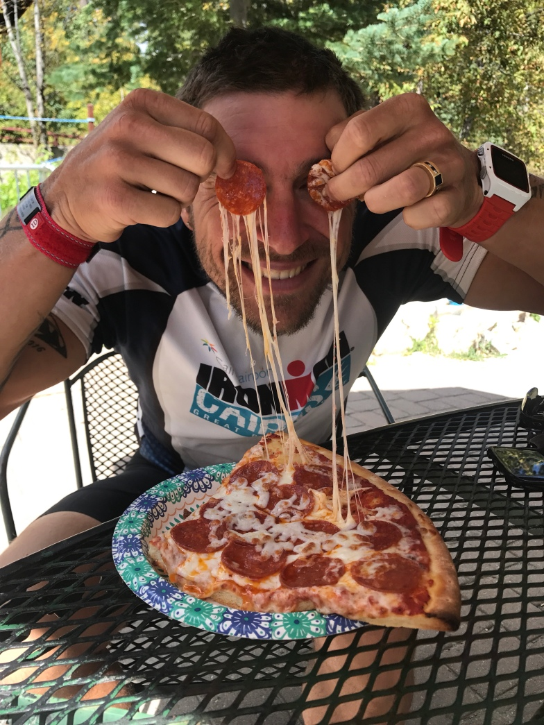 discovered a pizza palour on our long rides!